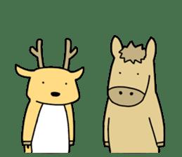 horse and a deer sticker #7503644