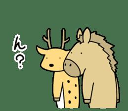 horse and a deer sticker #7503645