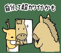 horse and a deer sticker #7503650