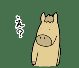 horse and a deer sticker #7503658