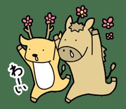 horse and a deer sticker #7503675