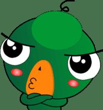 Czech star people little green sticker #7507333