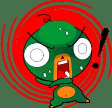 Czech star people little green sticker #7507336