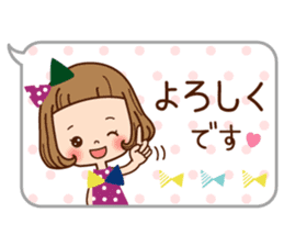 Of the girl is an honorific softly. sticker #7517757