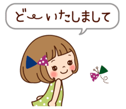Of the girl is an honorific softly. sticker #7517762