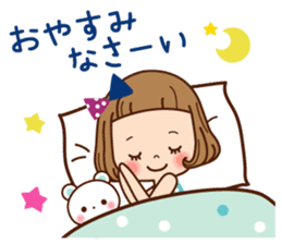 Of the girl is an honorific softly. sticker #7517785