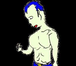 Sticker of a strange character.04.1 sticker #7518014