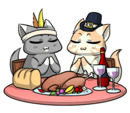 CatRabbit: Thanksgiving sticker #7532112
