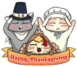CatRabbit: Thanksgiving sticker #7532115