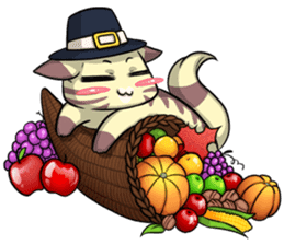 CatRabbit: Thanksgiving sticker #7532118