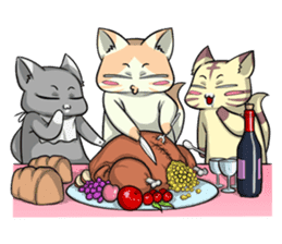 CatRabbit: Thanksgiving sticker #7532125