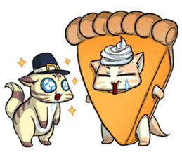 CatRabbit: Thanksgiving sticker #7532128