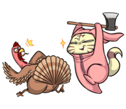 CatRabbit: Thanksgiving sticker #7532138