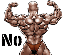 Muscle macho sticker 3 sticker #7541385