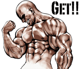 Muscle macho sticker 3 sticker #7541393