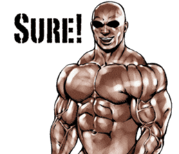 Muscle macho sticker 3 sticker #7541394