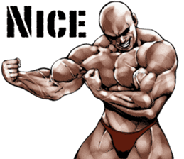 Muscle macho sticker 3 sticker #7541396