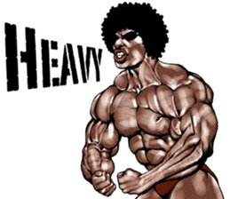 Muscle macho sticker 3 sticker #7541398