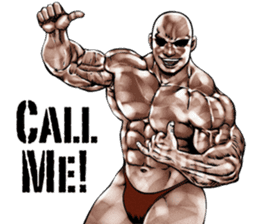 Muscle macho sticker 3 sticker #7541416