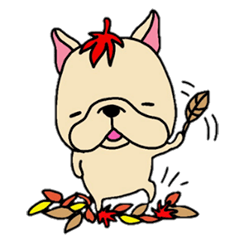 French Bulldog sticker for fall