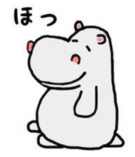 Lovely Hippopotamus Kabajiro sticker #7547802