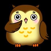 สติ๊กเกอร์ไลน์ Owl with 40 emotion or pattern