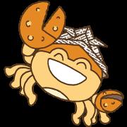 สติ๊กเกอร์ไลน์ samurai warrior helmet crab