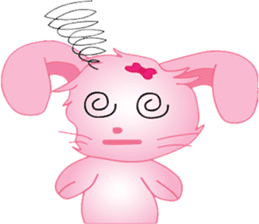pink bunny cute sticker #7553833