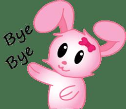 pink bunny cute sticker #7553836
