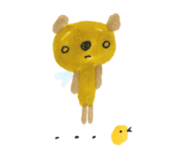 Anano Bear Ku-pi sticker #7558866