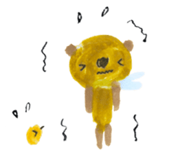 Anano Bear Ku-pi sticker #7558878