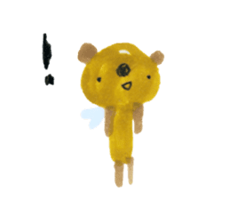 Anano Bear Ku-pi sticker #7558889