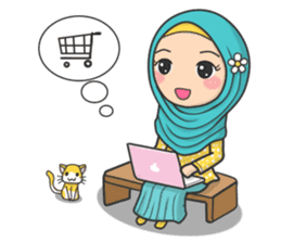 Flower Hijab 3 sticker #7583825