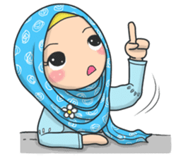 Flower Hijab 3 sticker #7583836