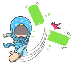 Flower Hijab 3 sticker #7583839