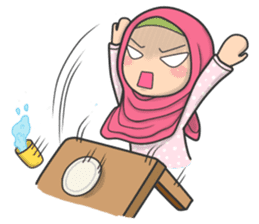 Flower Hijab 3 sticker #7583846