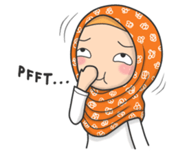 Flower Hijab 3 sticker #7583851