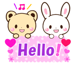 Good friend Animals for you in English sticker #7596151