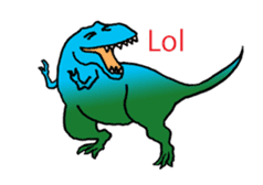 Dinosaur Heaven sticker #7606161