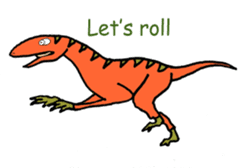 Dinosaur Heaven sticker #7606175