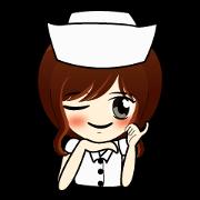 สติ๊กเกอร์ไลน์ พยาบาลสาว