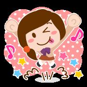 สติ๊กเกอร์ไลน์ Pop of Mine-chan Kumain student life.