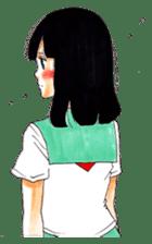 commonplace female high-school student sticker #7617555