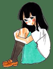 commonplace female high-school student sticker #7617572