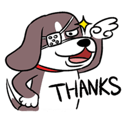 Puffy Beagle sticker #7618582