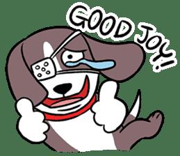 Puffy Beagle sticker #7618584