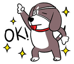 Puffy Beagle sticker #7618585