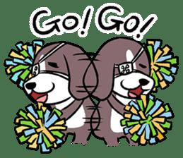 Puffy Beagle sticker #7618586