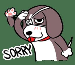 Puffy Beagle sticker #7618588