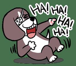 Puffy Beagle sticker #7618593